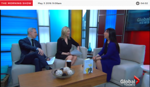 With Jeff McArthur and Liza Fromer on The Global Morning Show, May 3, 2016