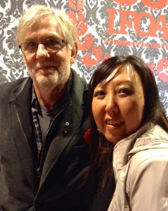 At the IFOA with David Adams Richards, my mentor from Humber School for Writers, Oct 2014