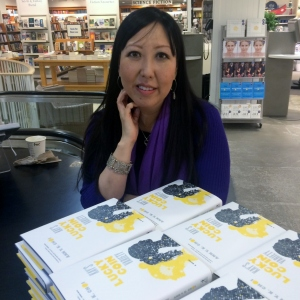 At Indigo Bay/Bloor signing my novel on its official release day, May 3, 2016