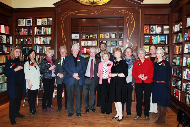 Phyllis Bruce's authors celebrating her appointment to the Order of Canada at Ben McNally Books, Feb 29, 2016